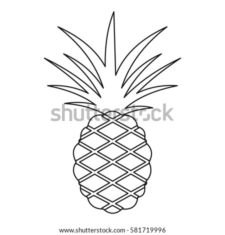 how to draw pineapple leaves