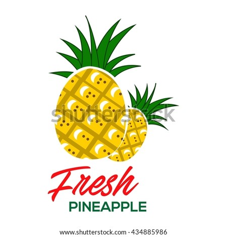 Pineapple poster template