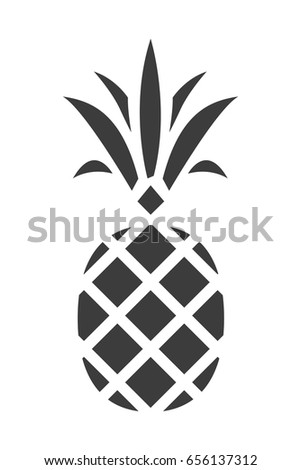 pineapple silhouette png. pineapple silhouette icon. trendy tropical element. vector graphics. isolated. png