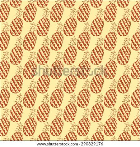 Pineapple Summer Pattern - stock vector