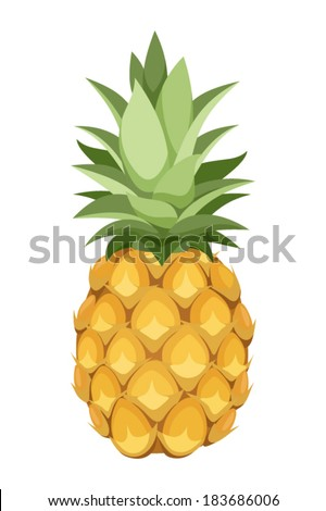 Pineapple. Vector illustration.