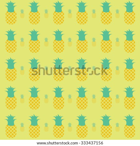 Pineapples colorful pattern with background
