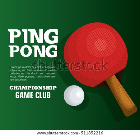 ping pong equipment sport