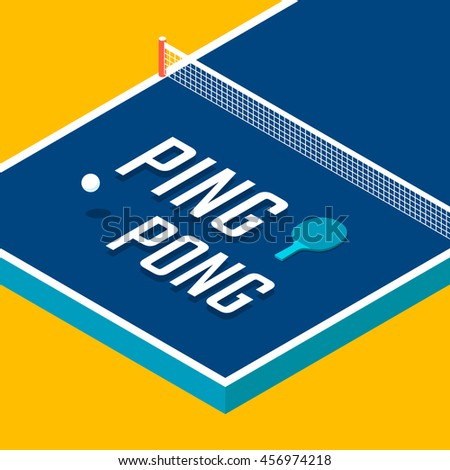 Pingpong Poster Design Table Tennis Vector Stock Vector