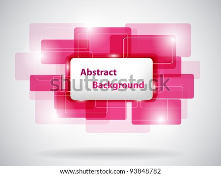 pink abstract card. vector illustration - stock vector