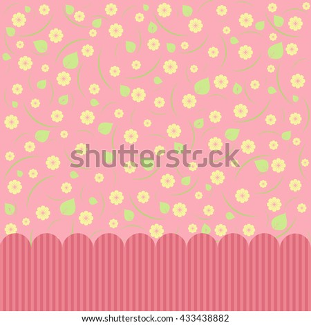 Pink abstract floral background. Greeting card. Vector image. - stock vector