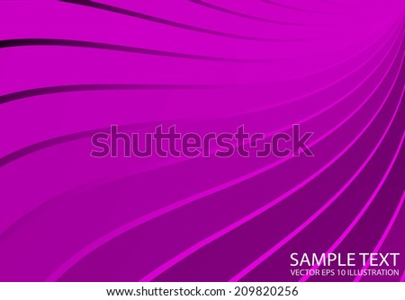 Pink abstract shiny vector lined background illustration - Vector pink abstract shiny template - stock vector
