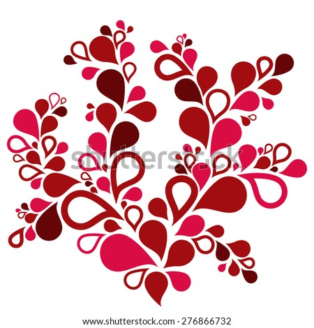 Pink and red drops - stock vector