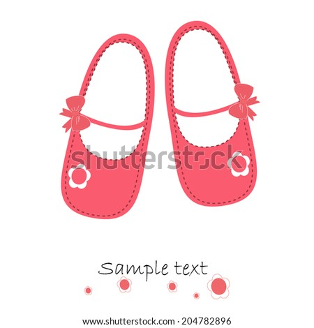Pink baby shoes newborn greeting card