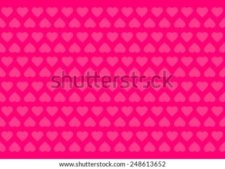 Pink background with hearts for Valentine's Day or wedding - stock vector
