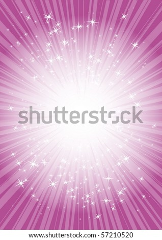 Pink blast in cyberspace - stock vector