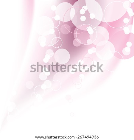 Pink Blurry Background with Bubbles. Abstract Vector Illustration. - stock vector