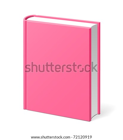 Pink book isolated vector illustration - stock vector