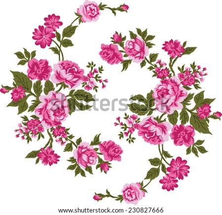 Pink Bouquet.Vector pattern. - stock vector