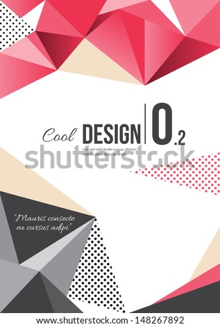 Pink Brochure design - stock vector