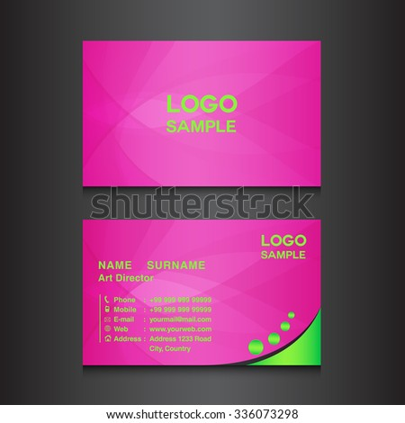 Pink business card design template vector stock vector royalty free pink business card design template vector illustration wajeb Gallery