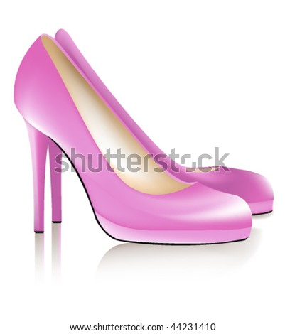 Pink cool woman shoes