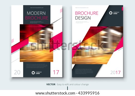 Pink Corporative business annual report brochure flyer design. Leaflet cover presentation. Catalog with Abstract geometric background. Modern publication poster magazine, layout, template A4 size