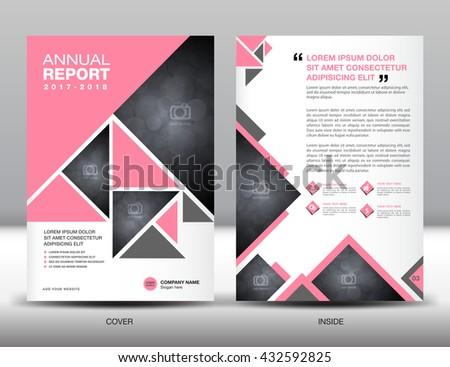 Pink Cover Annual Report Brochure Flyer Stock Vector 432592825