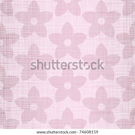 Pink flax with drawing flowers - stock vector