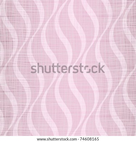 Pink flax with smooth abstract drawing - stock vector