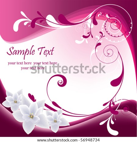 Pink floral abstract background  vector - stock vector