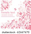 Pink floral card - stock photo