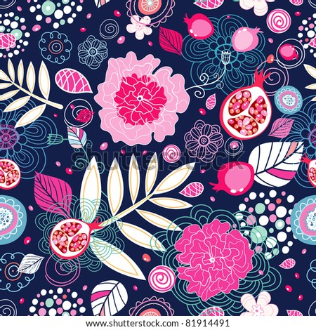 pink floral design - stock vector