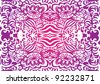 Pink funky seamless pattern - stock vector