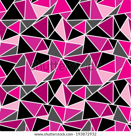 Pink Geometric Wallpaper - stock vector