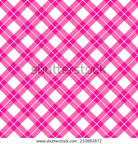 pink gingham seamless pattern background. vector illustration