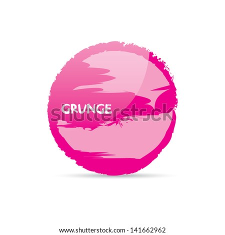 PINK glamour Grunge background. Retro background. Vintage background. Business background. Abstract background. Hand drawn. Texture background. Abstract shape. Pink grunge speech bubble - stock vector