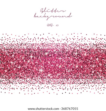pink glitter border background tinsel shiny stock vector