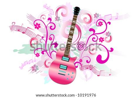 pink guitar stock images royaltyfree images amp vectors