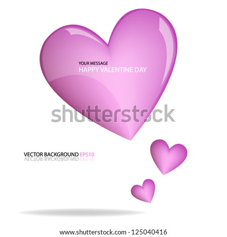 Pink heart vector for valentine lover love background eps10 for design