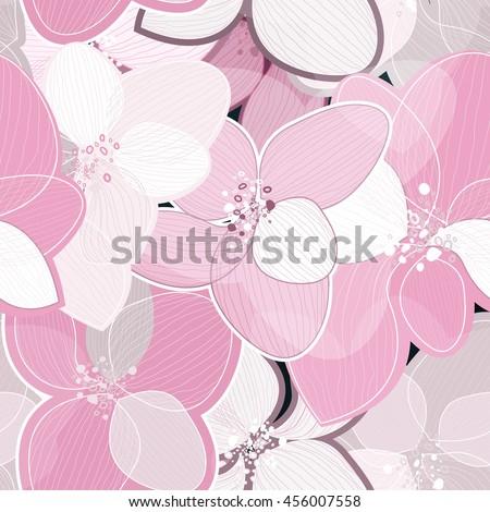 pink lotus flower petals on light art background outline vector creative pattern modern design