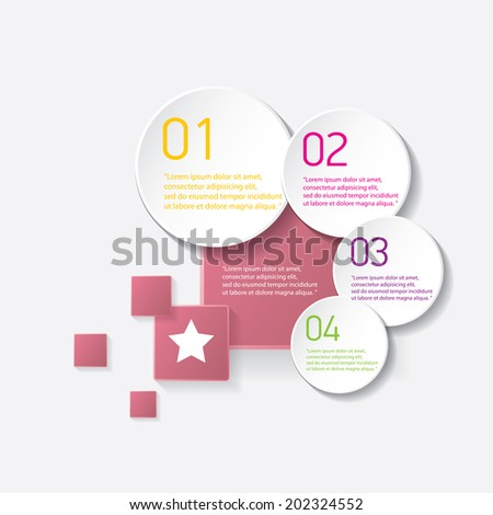 pink modern progress paper banners / can be used for infographics / numbered banners / horizontal cutout lines / graphic or website layout vector