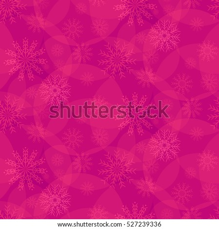 pink pattern of snowflakes