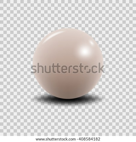Pink peal vector illustration. Vector pearl. Luxury pink perl isolated on transparent background. Realistic 3D pearl. - stock vector