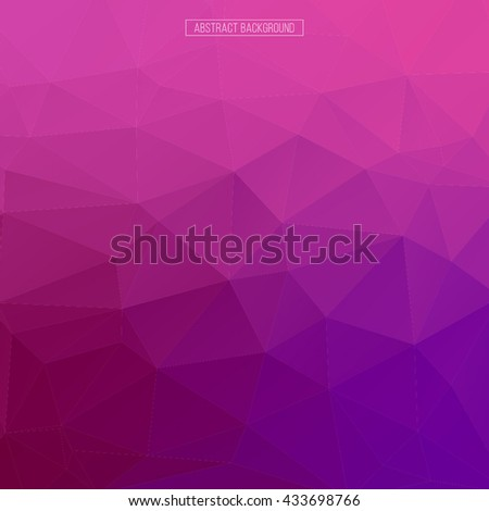 pink polygon pattern. hexagon background. triangle background, Design element. Business card. Vector illustration. Mosaic background. - stock vector