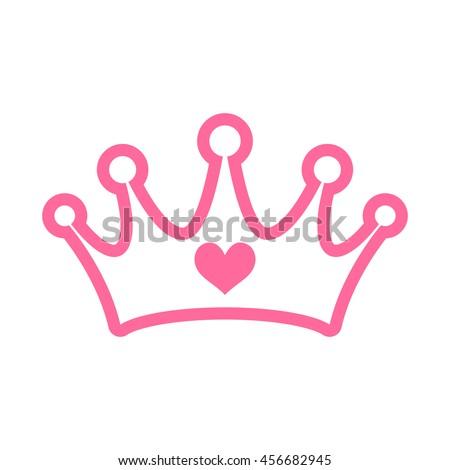 pink princess crown stock vector 456682945 shutterstock rh shutterstock com princess crown vector png princess crown vector image free download