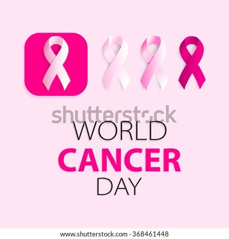 pink ribbons set disease solidarity vector stock vector