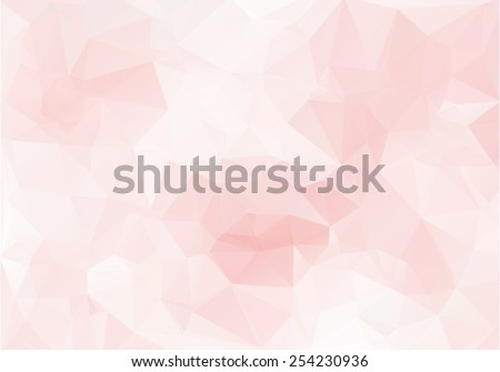 Pink romantic background in the style of Cubism. Soft wallpaper - stock vector