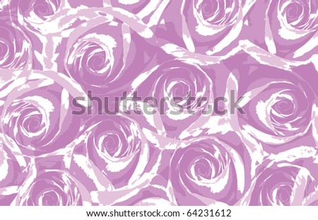 Pink roses background - stock vector