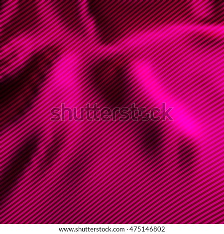 Pink satin with diagonal stripes as abstract vector background.