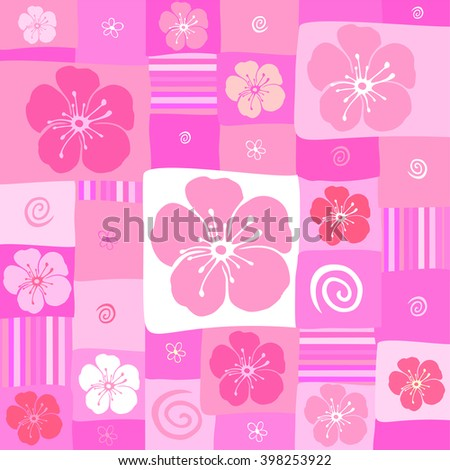 Pink seamless background. vector background - stock vector