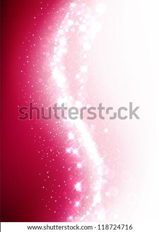 Pink shiny christmas background. Vector eps10. - stock vector