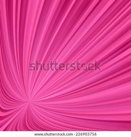 Pink striped ray background - stock vector