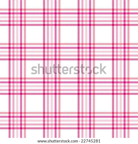 Pink Stripes Plaid - stock vector