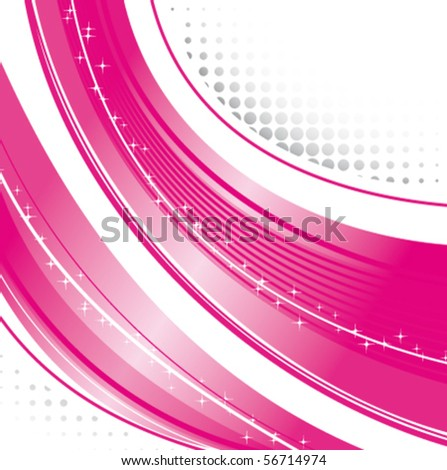 Pink strips - stock vector